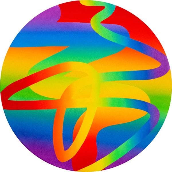 Rainbow Variation VIIIAcrylic on canvas over panel 18 x 18 inches