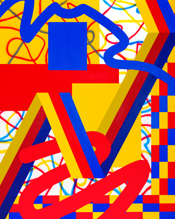 Primary Variation IAcrylic on canvas over panel 40 x 32 inches