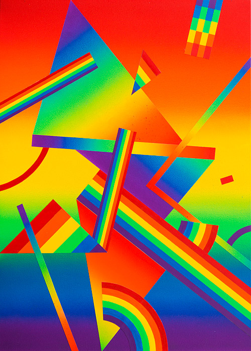 Rainbow Piece IIAcrylic on canvas over panel 28 x 20 inches