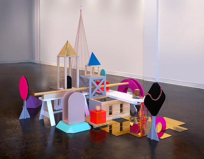 TumulusWood, Foam, MDF, Paper, String, Acrylic, & Paint Dimensions Variable